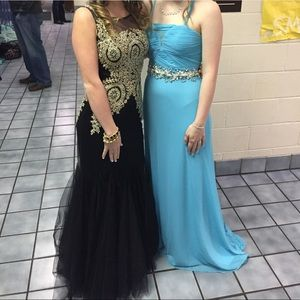 Black & gold prom/homecoming mermaid dress